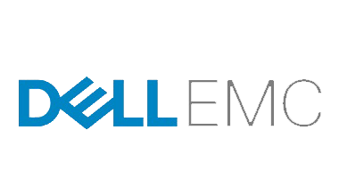 Blue and Grey Dell EMC Logo